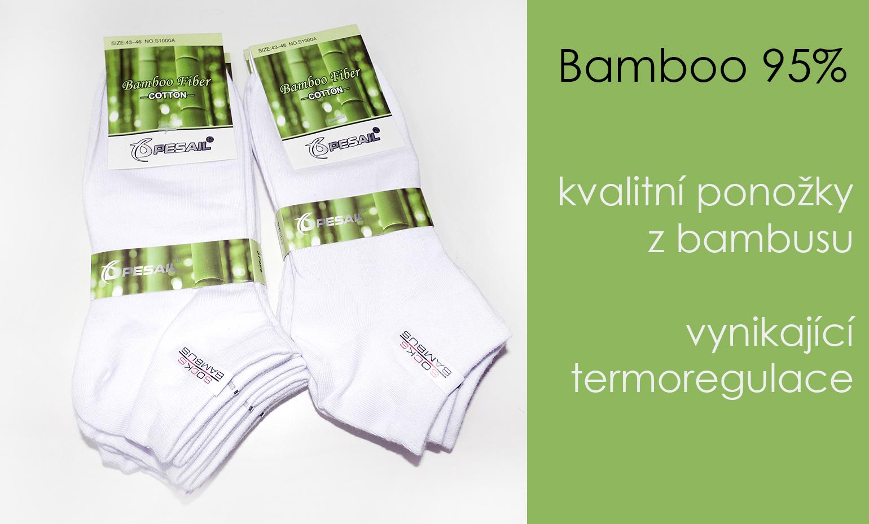 AKCE - Bambusové ponožky výprodej skladu nejlevněji v ČR 6c44a41dce