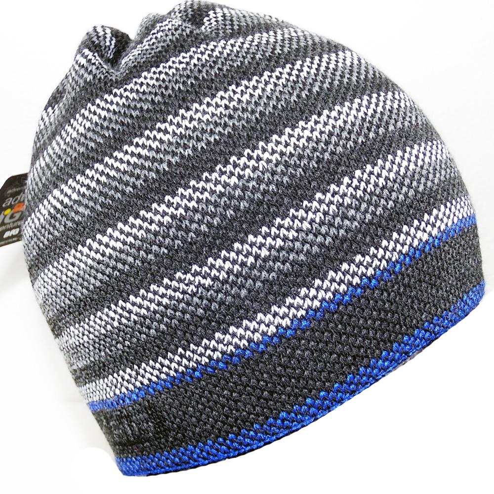 32322c5a051 Pánská zimní čepice BIG® pruhy šedá
