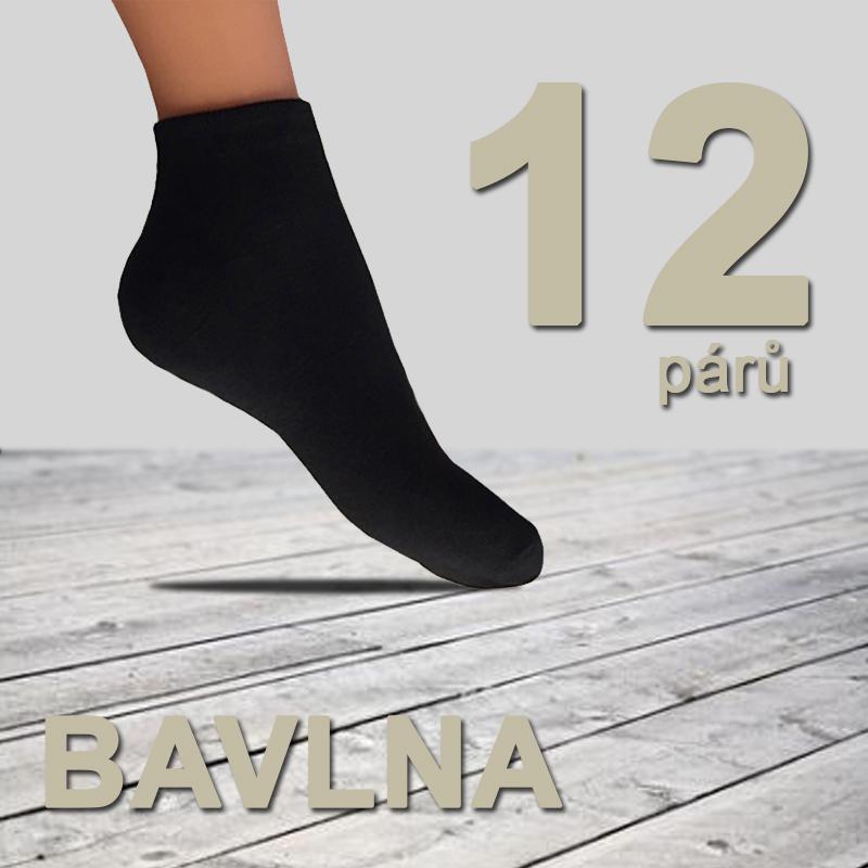 12 párů dámských bavlněných ponožek černé 38-42 5f7a2c56a6