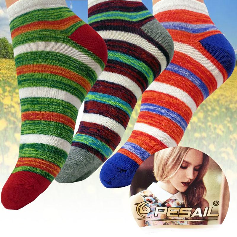 3 páry dámských bavlněných ponožek pruhované 35-38 d4c64da289