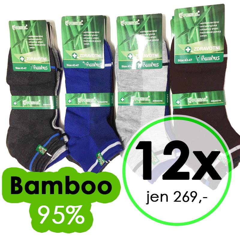 12 párů bambus ponožky 95% zdravotní zesílené pánské 40-44 ce5a028f3f