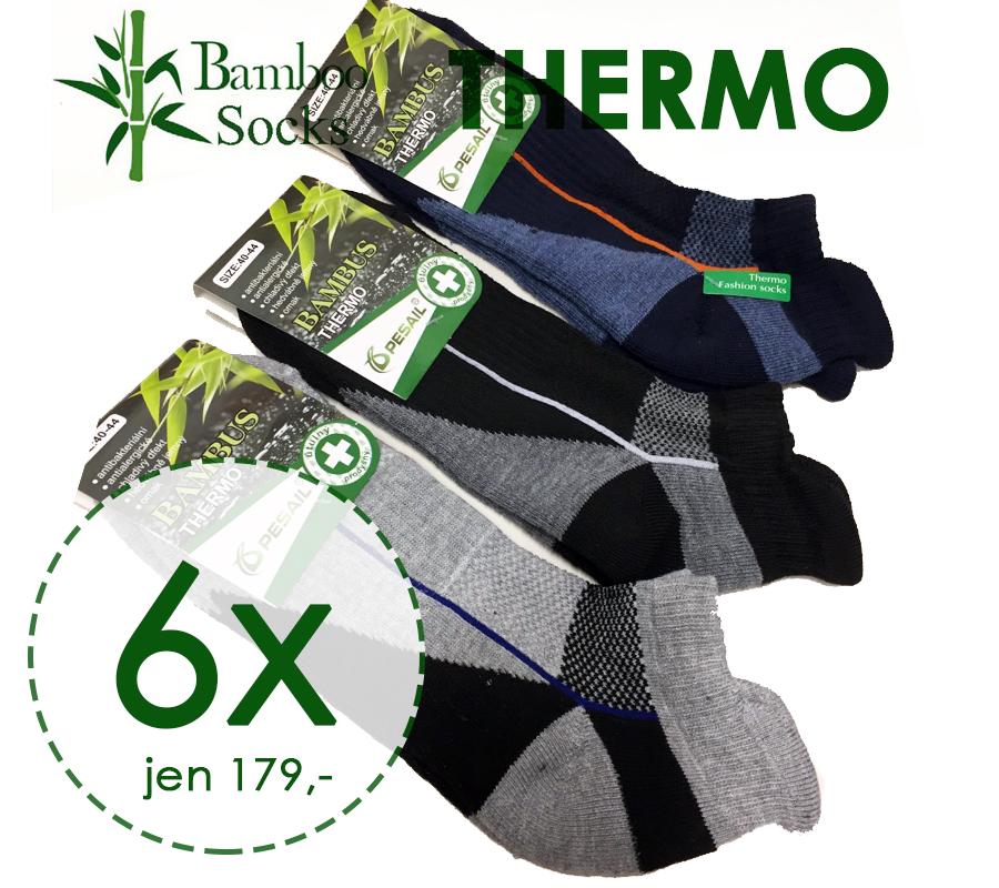 6 párů bambus ponožky 95% BM ACTIVE zesílené zvýšený lem pánské 40-44 d961d56d29