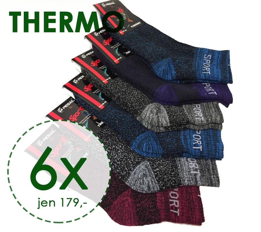 6 párů funkční termo ponožky vysoké dámské 35-38 aad39c95ab