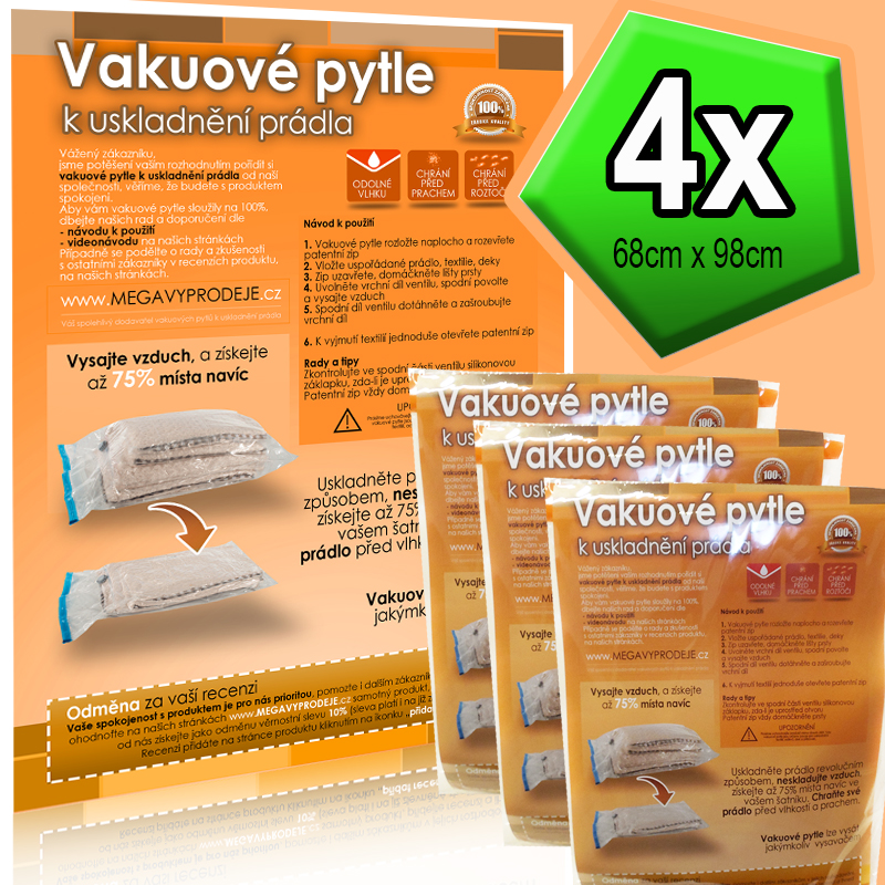 Home Collection vakuové pytle 4ks68x98