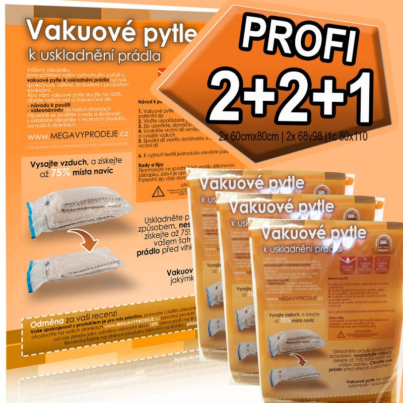Home Collection vakuové pytle 2ks(60x80)+2ks(68x98)+1ks(80x110)