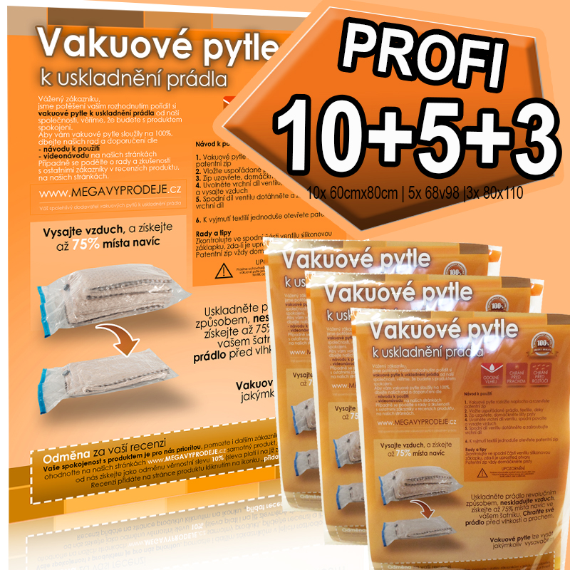 Home Collection vakuové pytle 10ks(60x80)+5ks(68x98)+3ks(80x110)