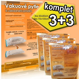 Home Collection vakuové pytle 6ks (3ks 60x80 a 3ks 68x98)