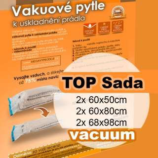 Home Collection vakuové pytle TOP sada 6ks (2ks 60x50, 2ks 60x80 a 2ks 68x98)