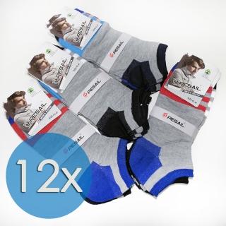 6bab3ff4afe 12 párů pánských bavlněných ponožek color 43-47