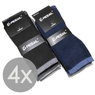 4 páry vysoké bavlněné termo ponožky pánské 43-47 571610b5a1
