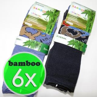 6 párů dětské bambusové ponožky mix barev 31-34 (bamboo 95%) e5fa9ed74b