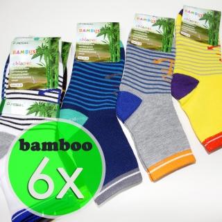 ac187b0c4b0 6 párů dětské bambusové ponožky mix barev 27-30 (bamboo 95%)