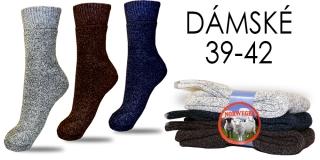 c7fca5b8fdd 3 páry dámských ponožek z ovčí vlny 39-42 Sleva 50%