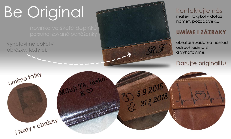 originální dárek personalizované peněženky